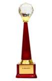 Docenienia trofeum dla rozpoznania obraz stock