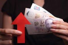 Docenienie Singapur dolar Obrazy Stock