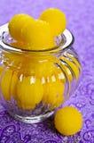 Doces amarelos Fotografia de Stock Royalty Free