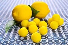 Doces amarelos Imagem de Stock Royalty Free
