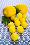 Doces amarelos Fotos de Stock Royalty Free
