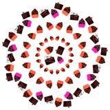 Doces Assorted Imagem simétrica do vetor Imagens de Stock Royalty Free