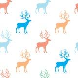 Doces bonitos cervos coloridos ilustração do vetor