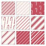 Doces Cane Patterns Fotografia de Stock