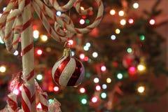 Doces Cane Tree Ornament Imagens de Stock
