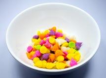 Doces coloridos de Tailândia Aalaw Aalaw dos doces Fotografia de Stock