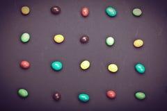 Doces coloridos diferentes redondos Imagens de Stock