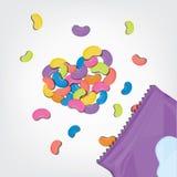 Doces coloridos na forma do coração Foto de Stock