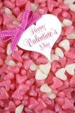 Doces cor-de-rosa e brancos do dia de Valentim do coração da forma da geleia Imagem de Stock Royalty Free