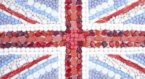 Doces da bandeira de união Fotografia de Stock Royalty Free