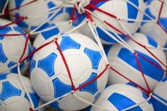 Doces da malha sob a forma das bolas de futebol fotos de stock royalty free