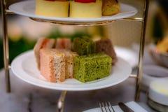 Doces da sobremesa do lanche e da pastelaria ajustados Fotografia de Stock