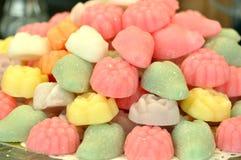 Doces de açúcar em um mercado italiano Fotos de Stock