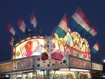 Doces de algodão do carrinho do carnaval   Imagens de Stock Royalty Free