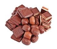 Doces de chocolate. Fotografia de Stock
