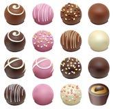 Doces de chocolate Fotografia de Stock Royalty Free