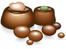 Doces de chocolate Ilustração Stock