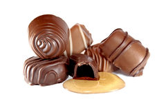 Doces de chocolate Imagens de Stock Royalty Free