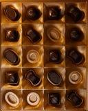 Doces de chocolate imagem de stock