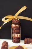 Doces de chocolate fotos de stock