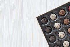 Doces de chocolate Assorted Fotos de Stock
