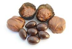 Doces de chocolate Assorted Fotos de Stock Royalty Free