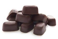 Doces de chocolate com creme doce foto de stock royalty free