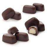 Doces de chocolate com creme doce imagens de stock royalty free