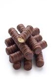 Doces de chocolate com creme doce foto de stock