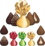 Doces de chocolate da trufa Fotografia de Stock