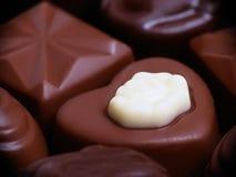Doces de chocolate dados forma coração Foto de Stock Royalty Free