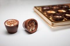 Doces de chocolate deliciosos fotos de stock royalty free