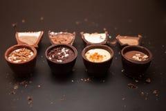 Doces de chocolate deliciosos fotos de stock