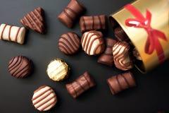 Doces de chocolate doce fotografia de stock royalty free