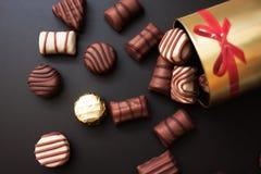 Doces de chocolate doce fotografia de stock