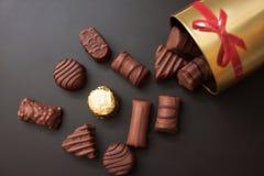 Doces de chocolate doce fotos de stock royalty free