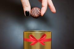 Doces de chocolate doce foto de stock
