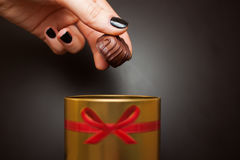 Doces de chocolate doce foto de stock royalty free