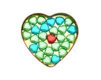 Doces de chocolate Heart-shaped imagem de stock