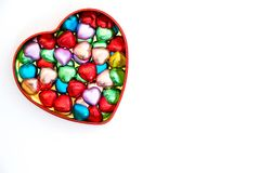 Doces de chocolate Heart-shaped foto de stock royalty free