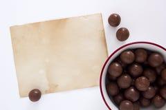 Doces de chocolate redondos Imagens de Stock Royalty Free