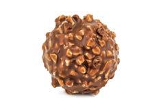 Doces de chocolate redondos Fotografia de Stock Royalty Free