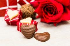 Doces de chocolates dados forma querido Imagem de Stock Royalty Free