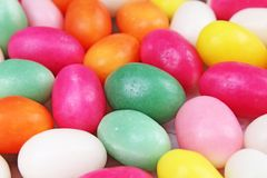 Doces de Easter Doces de açúcar dados forma ovo para a estação de easter Foto de Stock