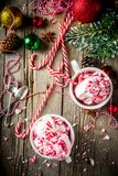 Doces de pastilha de hortelã Cane Ice Cream fotos de stock