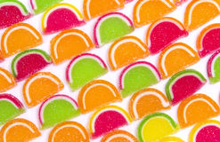 Doces diferentes coloridos da geléia fotos de stock