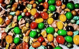 Doces do amendoim do chocolate doce Fotos de Stock