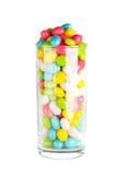 Doces do caramelo no vidro Imagem de Stock Royalty Free