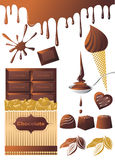 Doces do chocolate Foto de Stock Royalty Free