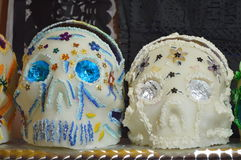 Doces do crânio de Artesanal, artesanal de Calavera de dulce Imagem de Stock Royalty Free